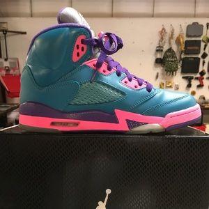 Teal and hot pink 6 1/2 Jordan's new